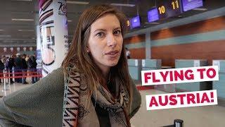 Austrian Airlines flight from Ukraine to Austria travel vlog (Lviv - Vienna - Innsbruck - Kitzbühel)