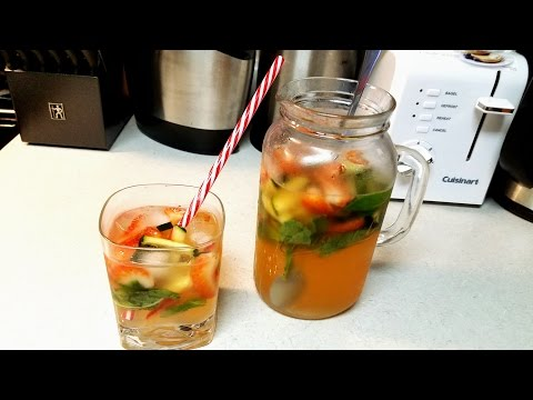 Strawberry Limeade - With Cucumber & Mint