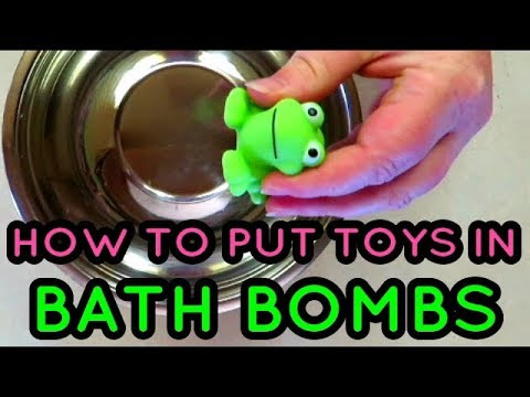 DIY HOW TO PUT SQUEAKER TOYS IN BATH BOMBS