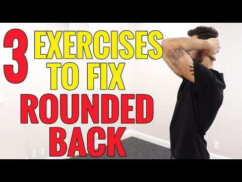 3 EXERCISES to Fix UPPER BACK Rounding - Kyphosis - Hunchback
