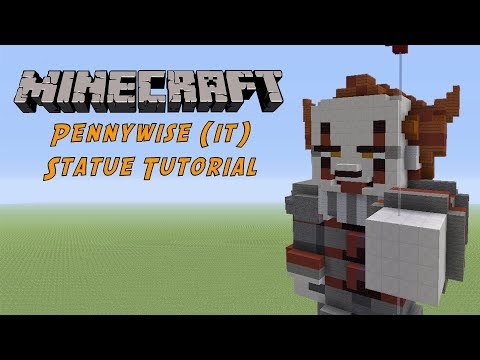 Minecraft Tutorial: Pennywise (IT) Statue