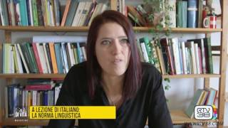 A LEZIONE DI ITALIANO: LA NORMA LINGUISTICA