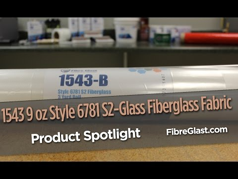 1543 9 oz Style 6781 S2-Glass Fiberglass Fabric