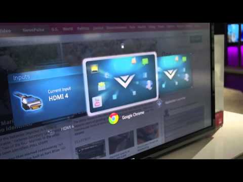 Vizio Google TV demo - games, movies, and the web on your TV
