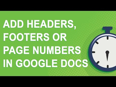 Add headers, footers, or page numbers in Google Docs (2017)