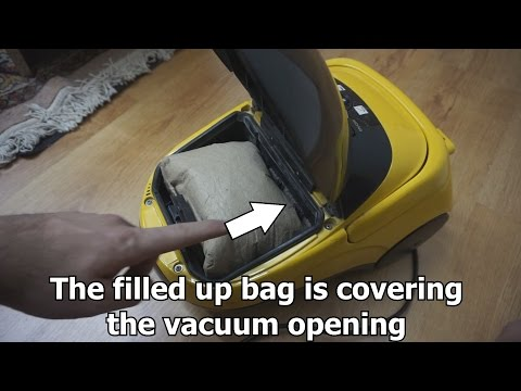 How to increase suction power of a bagged vacuum cleaner