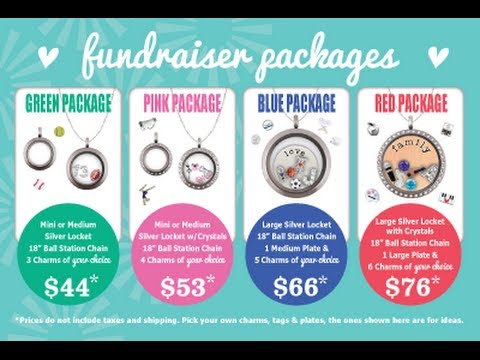 Origami Owl Fundraiser 4x6 Cards Video