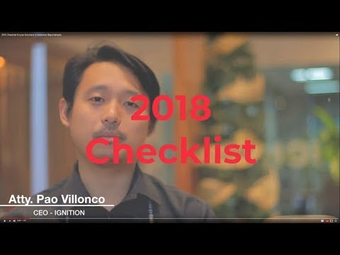 2018 Checklist for your Business Compliance Requirements