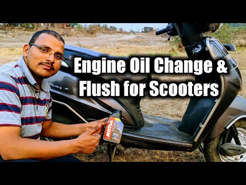 How to change bike scooter Engine oil and how to flush engine