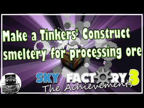 Make a Tinkers' Construct smeltery for processing ore