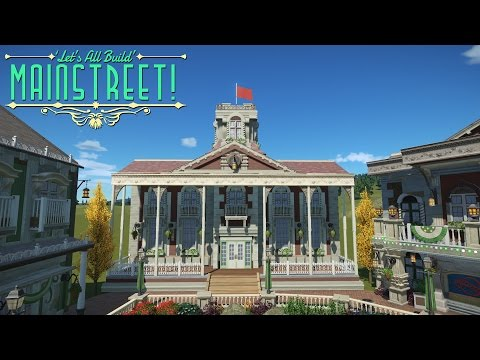 Planet Coaster - Town Library | Building Mainstreet! #5