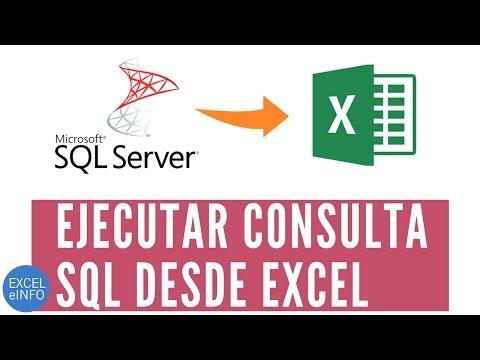 Ejecutar consulta SQL desde Excel @EXCELeINFO