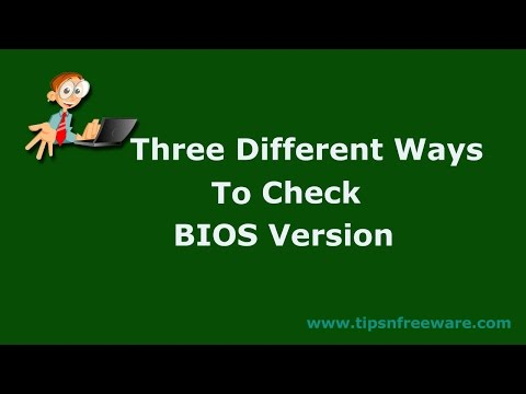 3 Different Ways to Check BIOS Version