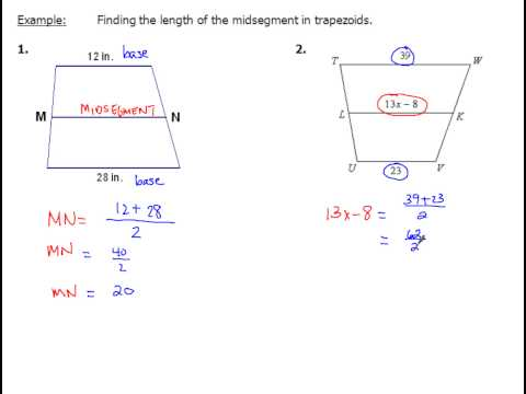 8-5 Trapezoids and Segment Lengths