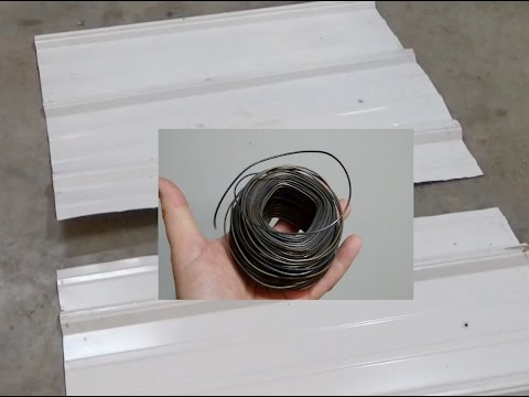 How to Cut Sheet Metal with Baling Wire