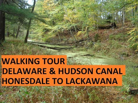 Hike on the Delaware & Hudson Canal Hawley to Lackawaxen