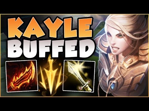WTF! RIOT 100% BROKE KAYLE WITH THESE BUFFS! BUFFED KAYLE SEASON 8 TOP GAMEPLAY! - League of Legends