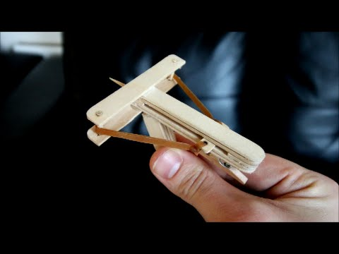 How To Make A Mini Wooden Crossbow!