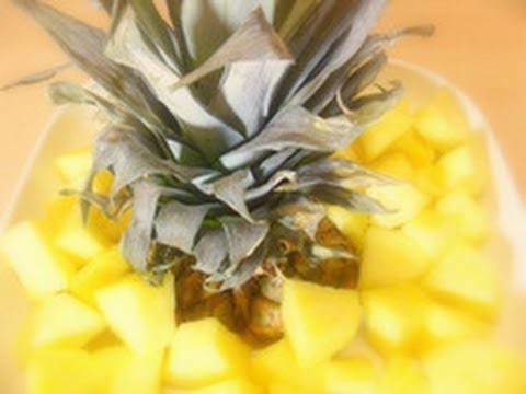 How to Cut a Pineapple - Method 2