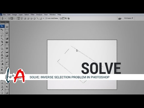 INVERSE selection Problem Solve in Photoshop