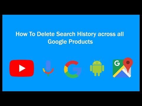 How to delete search history from all google products