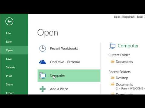 How to Recover and Repair Corrupted Excel File