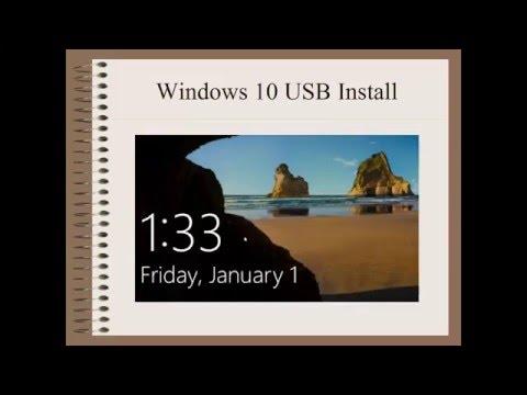 Windows 10 USB Install