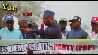 Just In : Buhari, Tinubu in Fresh Wahala, as Saraki Explodes During PDP Campaign Rally in Kwara