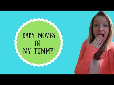 Baby kicking in womb at 31 weeks | FINALLY! I have been trying to capture this for a long time!