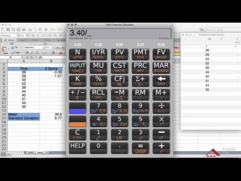 Calculating Z Scores Using the HP10BII Calculator