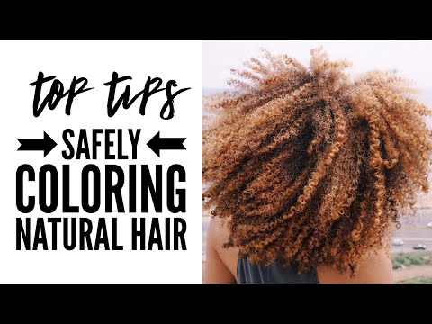 Top 6 Tips for Coloring Natural Hair SAFELY | My Hair Color Story