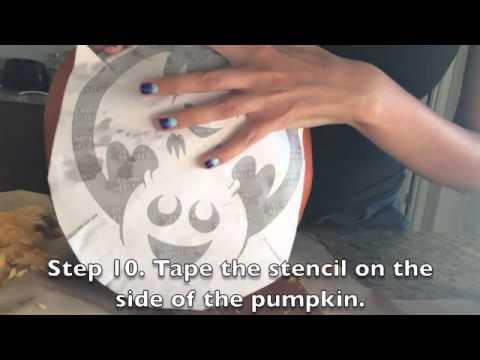 How to Carve a Pumpkin Using a Stencil