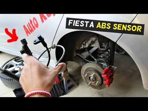 FORD FIESTA REAR ABS SENSOR REPLACEMENT REMOVAL SPEED SENSOR MK7 ST