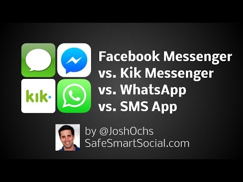 Facebook Messenger vs WhatsApp vs Kik Messenger
