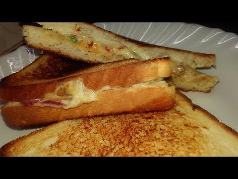 Chicken sandwich  How to make chicken sandwich Sandwich Easy Recipes By Kasturi
