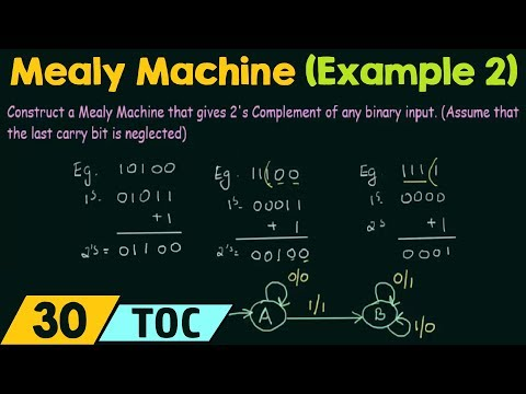 Construction of Mealy Machine - Examples (Part 2)