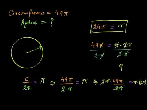 Radius and diameter from circumference (Hindi) | Area and Perimeter | Class 7 (India) | Khan Academy