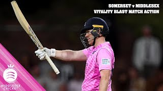 EOIN MORGAN SEALS T20 RECORD RUN CHASE! | SOMERSET v MIDDLESEX | VITALITY BLAST MATCH ACTION