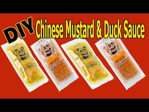 Chinese Hot Mustard & Duck Sauce   Make Your Own At Home with TWO Ingredients! -