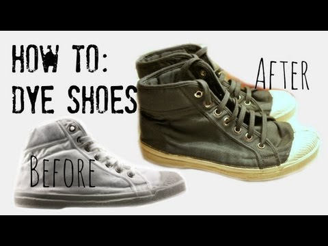 How to Dye Canvas Shoes/Sneakers