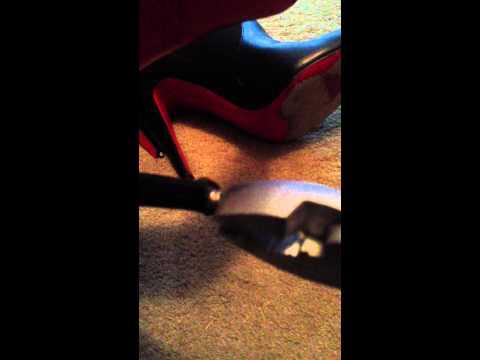 How to fix/repair Christian Louboutin high heels yourself DIY heel repair for CB shoes