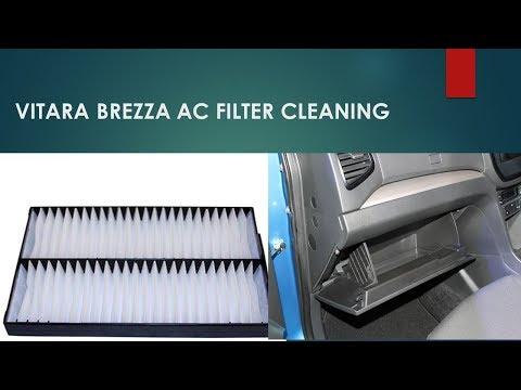 Maruti  vitara brezza air conditioner filter cleaning
