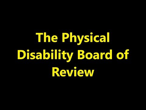 Episode 0048 - The Physical Disability Board of Review (PDBR)