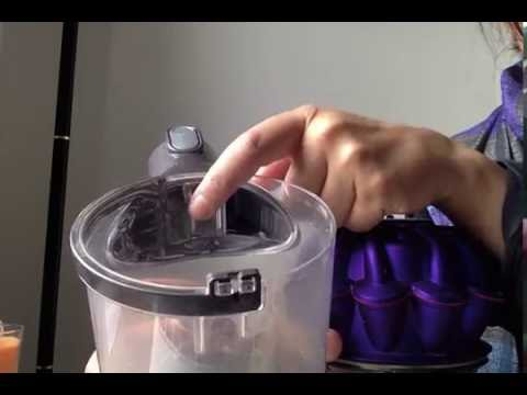 Dyson V6 Animal how to empty and replace the dust canister or bin