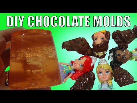 DIY Disney Princess Chocolate Molds with Gelatin jello jelly Make It Yourself
