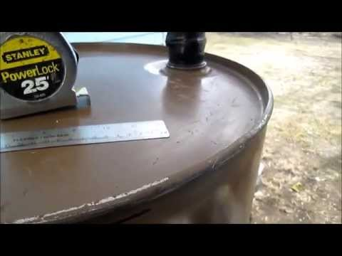 How-To cut the top off a 55 gal oil drum to use on the shortened barrel