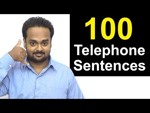 Learn Telephone English - 100 Sentences You Can Use on the Phone | How to Talk on the Phone