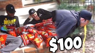 $100 DORITOS AND MOUNTAIN DEW CHALLENGE!! *VOMIT*