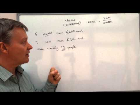How to calculate mean - average wage exam question