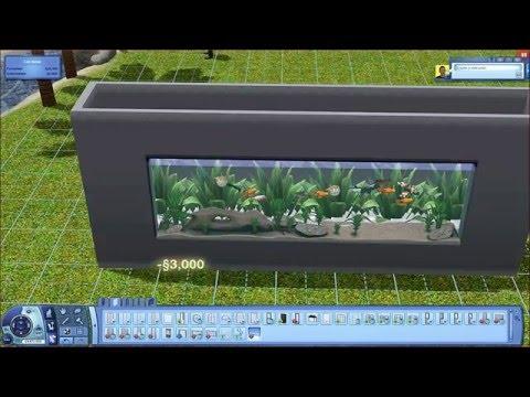 The Sims 3 Tutorials - How to build an aquarium in a wall